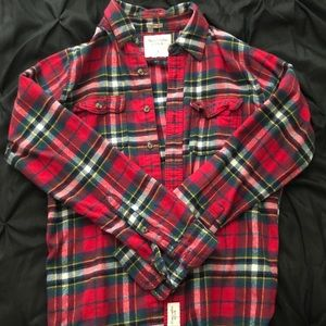 Abercrombie & Fitch red flannel shirt size Large
